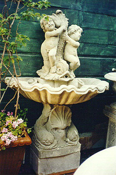 WF-13 Cherub and Dolphin Fountain