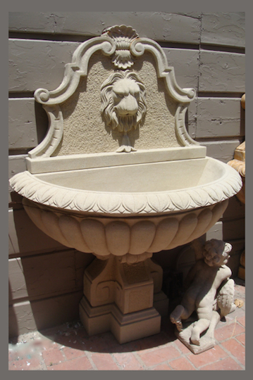 WF-9 Lion Wall Fountain