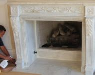 M-8 Fireplace Mantel sculpture design imports