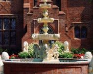 lion shell fountain tiered